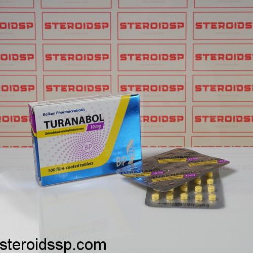 Packaging Turanabol 10 mg Balkan Pharmaceuticals