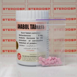 Packaging of Anabol 5 mg British Dispensary